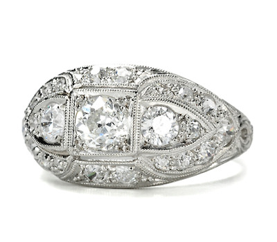 Dashing Diamond Dome Ring