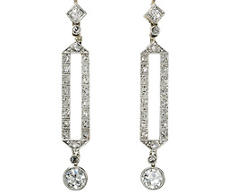 Art Deco Drama: Diamond Drop Earrings