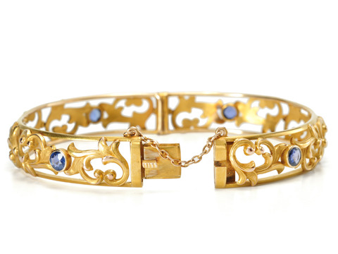 Wordley, Allsopp & Bliss Antique Sapphire Bangle