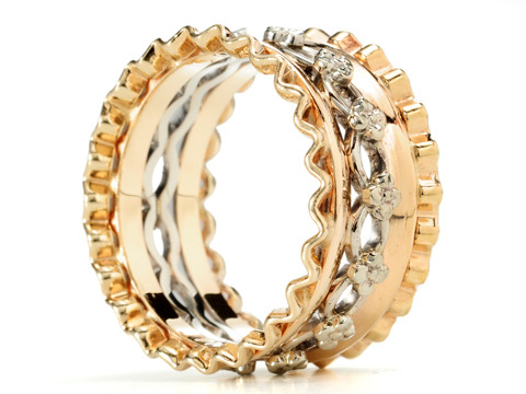 Wide Retro-rific Fluted Band of Gold