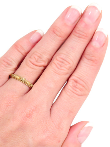 Understated Gold Wedding Ring