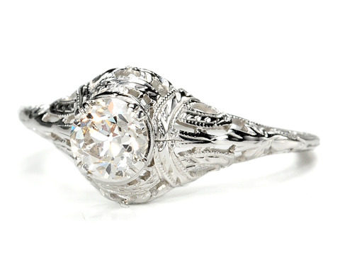 Ribbons & Bows in a Diamond Engagement Ring