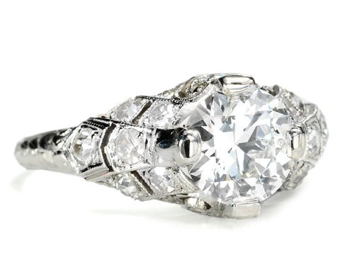 Sumptuous Edwardian 1.15 c Diamond Ring