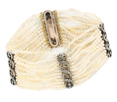 Age of Elegance: Pearl Diamond Bracelet