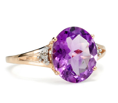 Edwardian Royal in an Amethyst Diamond Ring