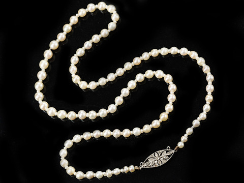 Antique Edwardian Pearl Necklace