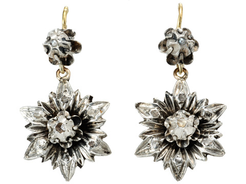 Antique Blossoms in an Earring & Pendant Set