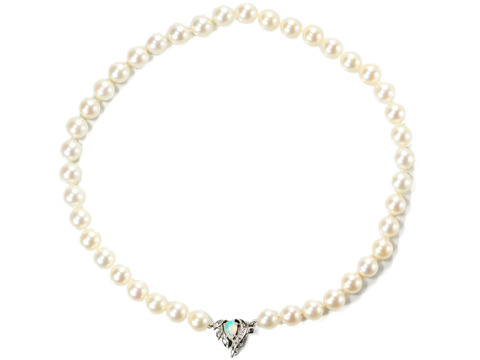 Opals & Diamonds in a Pearl Necklace