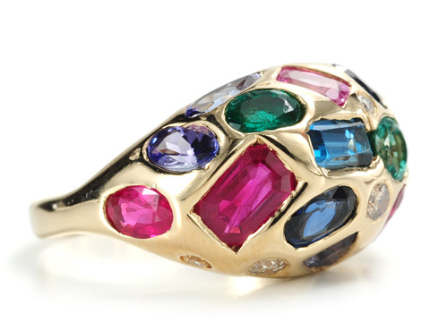 Gems Galore in a Dome Ring