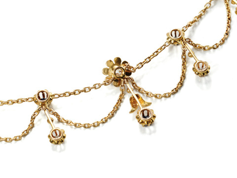 Delicacy Defined: Antique Jeweled Festoon Necklace