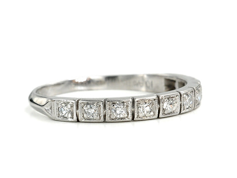 Diamond Platinum Half Eternity Ring