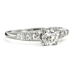 Platinum Perfection in a Diamond Engagement Ring
