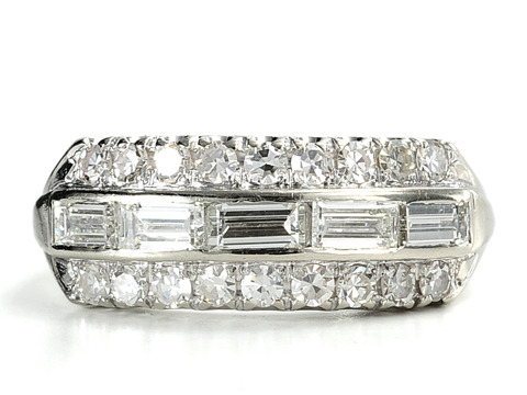 Bounty of Diamonds in a Smashing Estate Ring