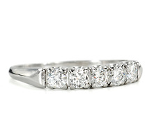Platinum & Diamond Estate Eternity Band