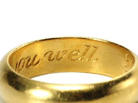 """Time Shall Tell I Love You Well"" Antique Poesy Ring"