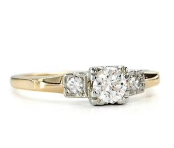 Two-Tone American Beauty Vintage Diamond Ring