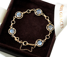 Galaxy of Blue Moonstone Bracelet
