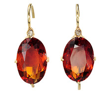 Art Deco Citrine & Diamonds Earrings