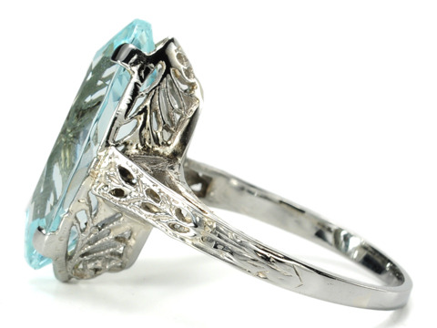 American Dreams: Art Deco Aquamarine Ring
