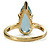 Teardrop Aquamarine Estate Ring