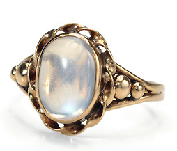 A Blue Moonstone Ring of Distinction