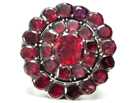 18th C. Antique Almandine Garnet Ring