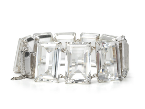 1940s Rock Crystal Bracelet