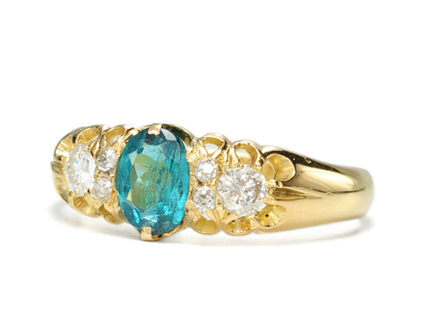 Edwardian Fate in an Antique Tourmaline Diamond Ring
