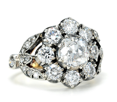 An Enviable Diamond Cluster Ring