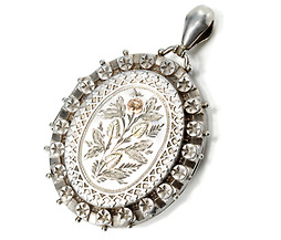 Ornate Victorian Sterling Silver Locket Pendant