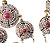 Antique Italian Shades of Ruby  Pearl Earrings