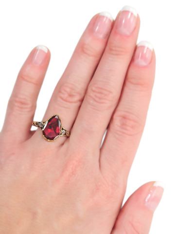 Foiled Again: Georgian Garnet Ring