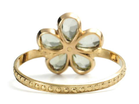 A Rarity: Early Victorian Chrysoberyl Daisy Ring