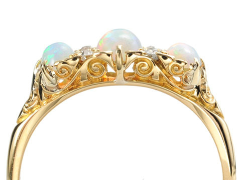 Victorian Diamond Opal Ring