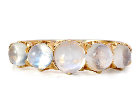 Edwardian Entrancement in a Moonstone Ring