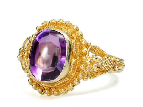 Unusual Edwardian Amethyst Ring