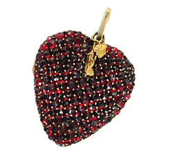 Oh My Beating Garnet Heart Locket