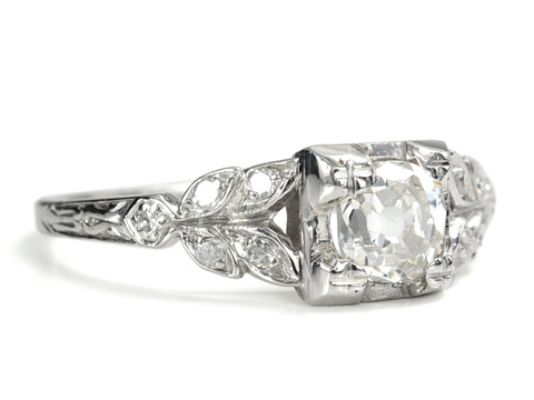 Platinum Passion: 1920 Diamond Platinum Ring