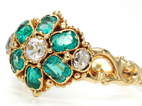 Georgian Gem Envy in a Diamond Emerald Ring