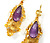 Grandeur in a Georgian Cannetille Amethyst Earring