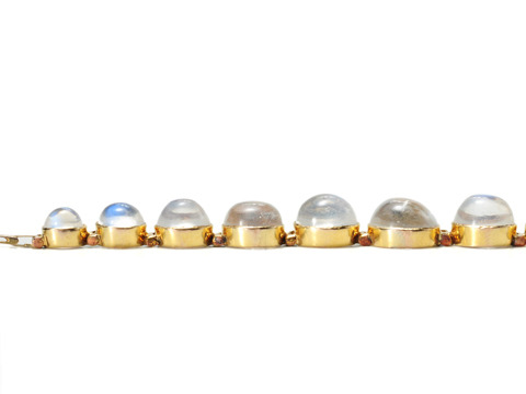 A Trail of Moonstones: Edwardian Link Bracelet
