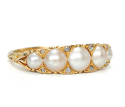 Nature's Wonder - Antique Natural Pearl Ring