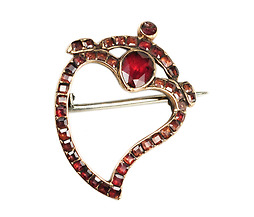 My Beloved: 18th Century Witch's Heart Brooch