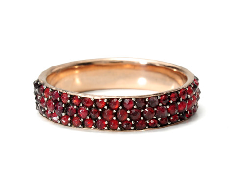 Forever Mine: Edwardian Bohemian Garnet Eternity Ring