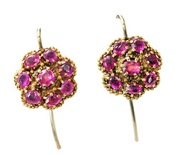 Georgian Gems: Ruby Cluster Earrings