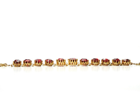 Trail of Garnets in an Edwardian Bracelet