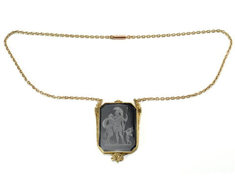 All is Fair: Edwardian Carved Rock Crystal Necklace