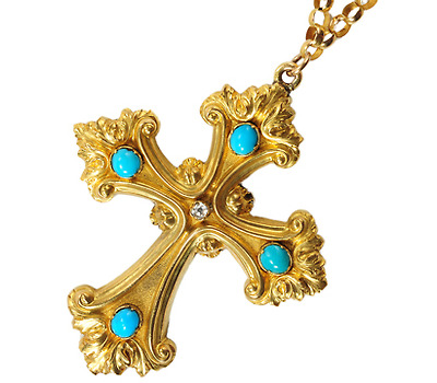 Georgian Cross Patonce with Locket Back