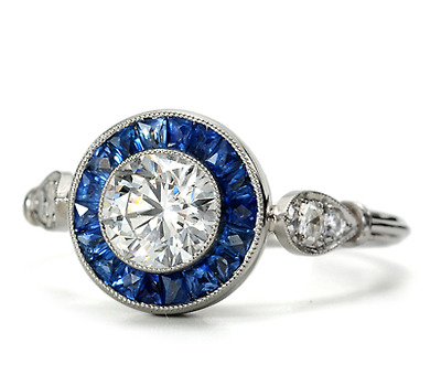 Right on Target: Diamond Sapphire Ring