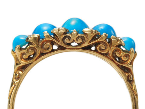 Five of a Kind: Edwardian Turquoise Ring